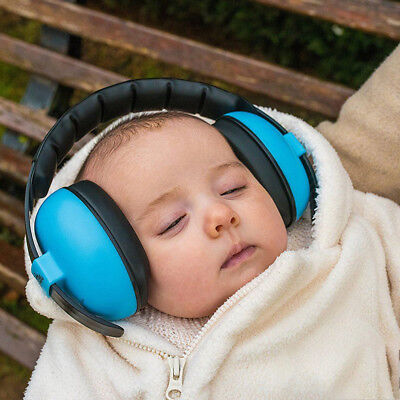 Kids childs baby ear muff defender noise reduction comfort festival protectio LU