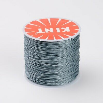 Waxed Polyester Cord Thread 0.5mm Grey bead stringing bracelet necklace making