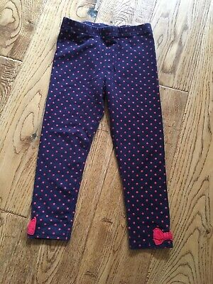 Girls leggings size 3-4 years blue with red dots Nutmeg Peppa Pig