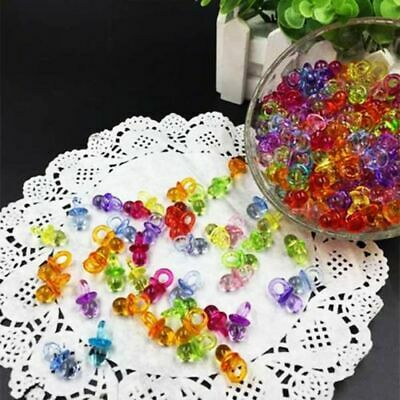 Home Party Supplies Kids Favors Plastic Clear Nipple Mini Pacifiers Baby Shower