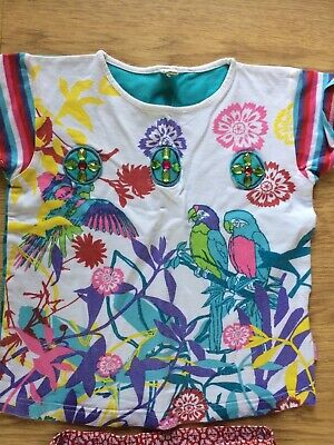 Designer ME TOO cropped trousers t shirt top set EUC 5-6 yrs