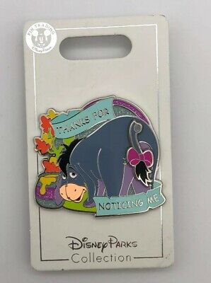 Disney Parks Pin Winnie The Pooh Eeyore Donkey Thanks for Noticing Me Tail Moves