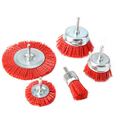 5Pc 25-100mm Abrasive Wire Brush For Metal Polishing Rust Remover Deburring