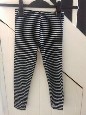 girls legging age 7-8 years stripped black and white legging trousers 3 quarter