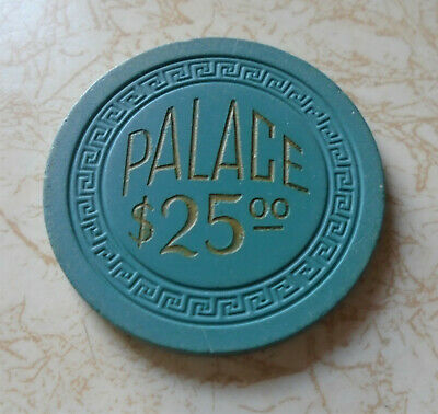 Obsolete, Early Palace Club, Reno $25.00 Casino Chip
