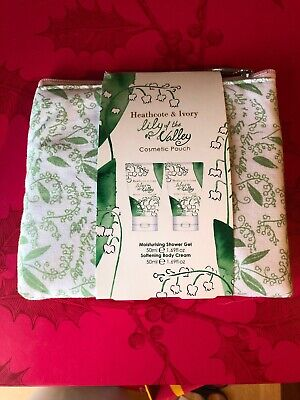 Heathcote And Ivory. Lily Of The Valley Travel  Set With Cosmetic Pouch - New