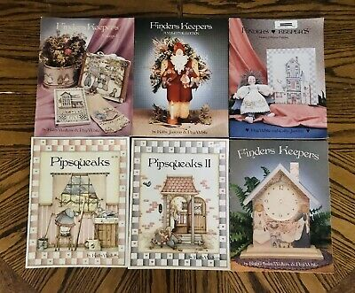 Pipsqueaks Kathi Walters & More Tole Painting Instruction Books White Janvrin