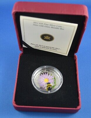 2012   -  1 oz  Aster With Bumble Bee - Maroon Case And Black Sleeve - Original