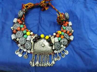 Antique Moroccan Necklace Berber With Free Pair Of Earrings Tribal Art gift