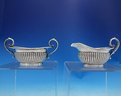 Tiffany and Co Sterling Silver Sugar and Creamer Set 2pc #7657-8594 (#3990)
