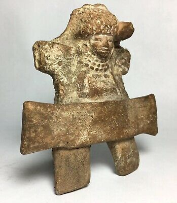 Zapotec Throne Pre-Columbian Lord Priest Prisoner Terra Cotta Artifact Aztec