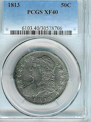 1813 Capped Bust Half Dollar : PCGS XF40