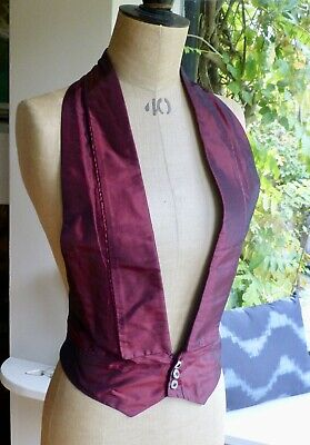 vintage cutaway backless waistcoat / gaiter spats fancy dress theatrical costume