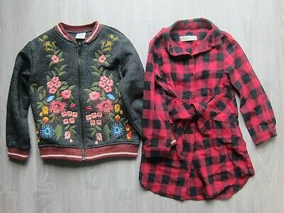 Zara Girls Winter Jacket and Outfit long sleeve shirt SIZE 6 and 7