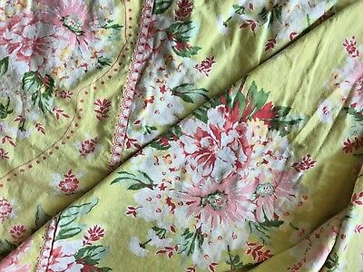 "Vintage April Cornell Shabby Chic Table Cloth Rectangle 101""x60"""