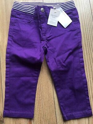 BNWT Girls 4 Years PUMPKIN PATCH Purple Cropped Trousers / Capri Pants - Holiday