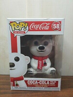 Funko Pop! Coca-Cola Polar Bear Ad Icons #58 NEW IN STOCK! *Box Damage*