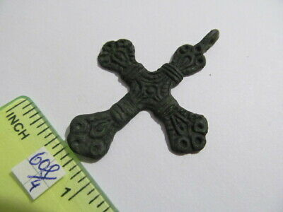 Ancient bronze cross Kievan Rus Vikings 12-13 AD № 608/4(restoration)
