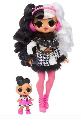 LOL Surprise Dollie OMG Fashion Doll and Dollface Sister Winter Disco - NEW/VHTF