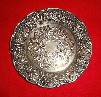 """Vintage S Kirk & Son Repousse Sterling Silver Nut Dish STUNNING!! 3 3/4"""""""