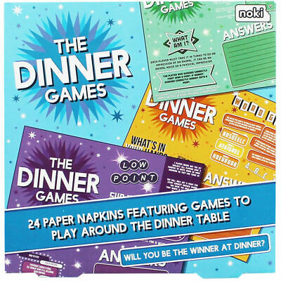 The After Dinner Games Napkins Fun Party Birthday Wedding Day Table Game