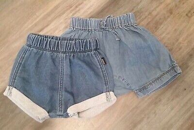 Bonds Baby Denim Shorts x 2. Like new. Size 00