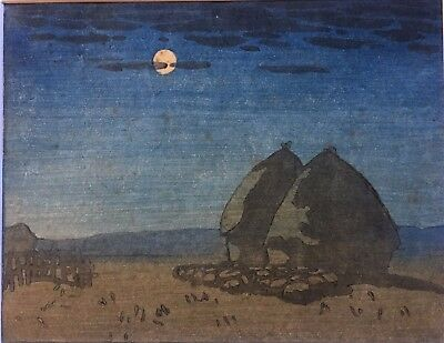 20th C woodblock print by unknown artist