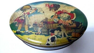 Vintage Melbourne Horsfall Richmond Rare Griffiths Sweets Tin Toffee Washing Day