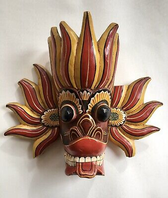 Vintage Hand Crafted/painted Oriental Mask From Bali Indonesia