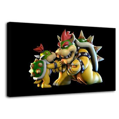 """12""""x22""""Super Mario Bowser and Son HD Canvas prints Painting Home Decor Wall art"""