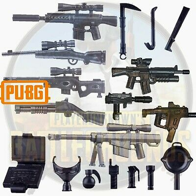 Custom Guns 18x PUBG Weapons for  Lego®/Brickarms Compatible Minifigures