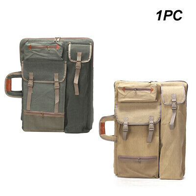 Backpack Canvas Large Capacity Drawing Board Painting Bag Travel Carry Portable