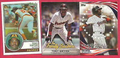 2019 Topps Update Tony Gwynn Iconic Card, Family Business, Perennial All Stars