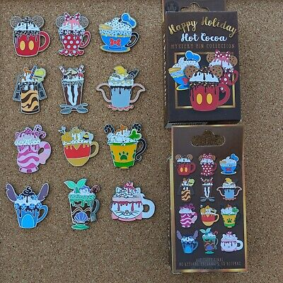 Disney Happy Holiday Hot Cocoa Mug Pin 2019 Mystery Collection OE [Pick One]