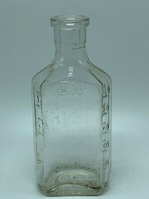 Antique Medicine Bottle Owens IL Glass 3iv Measure Bottle Duraglas