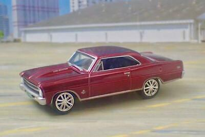 Cowl Induction V-8 1967 67 Chevy II Nova SS Super Sport 1/64 Scale Limited Edt G