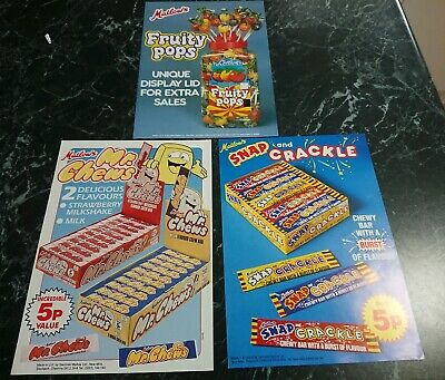 Vintage Matlow's Swizzels Confectionery Advertising Paper Posters Fruity Pops