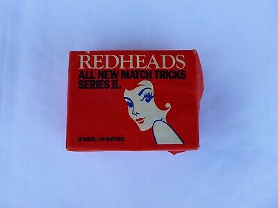 Vintage Redheads Matches Pack of 10  Unopened - Made in Australia