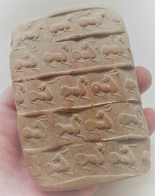 Impressive Ancient Near Eastern Clay Tablet With Early Form Of Writing