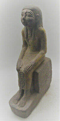 Museum Quality Ancient Egyptian Stone Carved Statue Of Servant