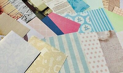 "25x Mixed Vintage Scrapbooking Papers 6x6 6"" Cardmaking"