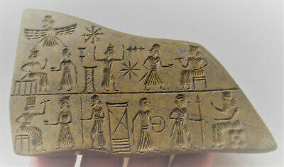 Circa 3000Bce Ancient Near Eastern Stone Tablet With Early Form Of Writing