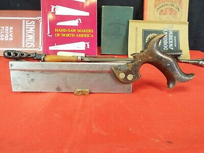 "R. Groves & Sons 9"" Dovetail Saw, 16 PPI Rip Cut, 1830's, Cuts Well"