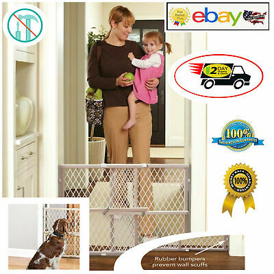 Baby Safety Gate Door Stair Child Dogs Kids Barrier Pet Fence Toddler 50x2.5x32""