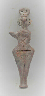 Circa 1180-700Bce Ancient Syro-Hittite Terracotta Fertility Figure Rare