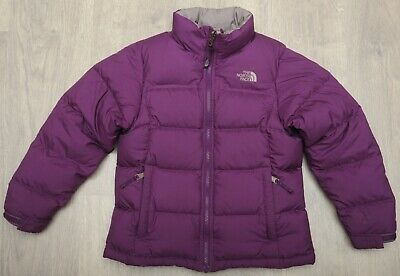 THE NORTH FACE NUPTSE PURPLE - DOWN insulated GIRL'S PUFFER COAT - size M 10-12