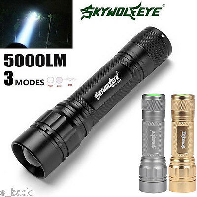 5000 Lumens Super Bright 3 Modes CREE XML XPE LED 18650 Flashlight Torch Lamp