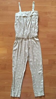 Chloe Girls 100% Cotton Long Jumpsuit Playsuit Size 8 Brand New Without Tags