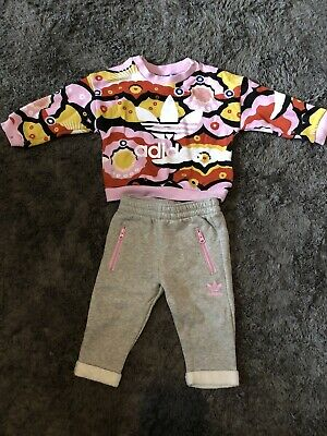 Adidas Baby Girl Tracksuit Age 0-3 Months