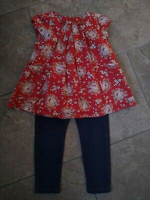 Joules Tunic Top And Next Jeggings Jeans Girls 2-3 Years